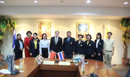 คณะผู้บริหารของ Guangxi Science & Technology Normal University เข้าเยี่ยมชม